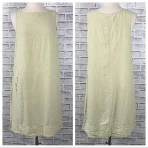 J Jill Love Lined Chartreuse Shift Dress